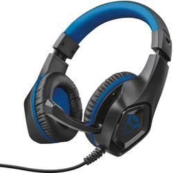 Trust GXT404B Rana herní headset na kabel přes uši, jack 3,5 mm, černá, modrá