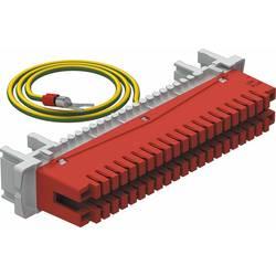 Lišta s držáky na trubky OBO uzemnění LSA-E-LEI 34pólový pro LSA Plus LSA-E-LEI OBO Bettermann 5084016, červená, 1 ks