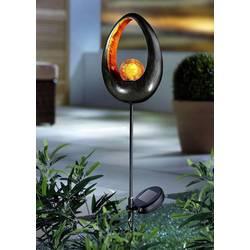 Solární zahradní svítidlo koule Alma Garden Fireball 4038732203754, mosaz