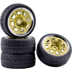 Kompletní kola Racing Reely RE-5996133 pro silniční model, 65 mm, 1:10, 4 ks, zlatá, chrom (lesklý)