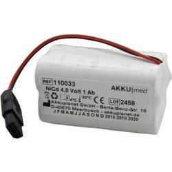 Akumulátor pro lékařské přístroje Akku Med Náhrada za originální akumulátor Tonoport-batt 4.8 V 1000 mAh