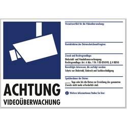 Výstražná samolepka;monitorováno kamerou (š x v) 210 mm x 148 mm PENTATECH 40205