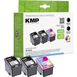Kompatibilná sada náplní do tlačiarne KMP H77V 1719,4055, čierna, zelenomodrá, purpurová, žltá