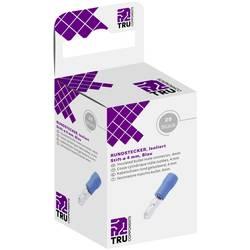 Kulatý faston TRU COMPONENTS T1904C051, 2.50 - 2.50 mm², částečná izolace, modrá, 25 ks