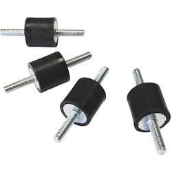 Famotec Typ A gumové tlumiče (Ø x v) 15 mm x 15 mm
