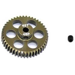 Pastorek motoru ArrowMax Typ modulu: 48 DP Ø otvoru: 3.175 mm Počet zubů: 45