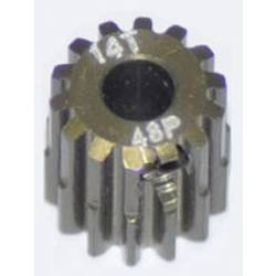 Pastorek motoru ArrowMax Typ modulu: 48 DP Ø otvoru: 3.175 mm Počet zubů: 14