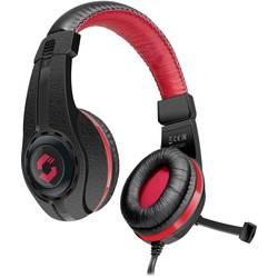SpeedLink Legatos herní headset na kabel přes uši, jack 3,5 mm, černá, červená
