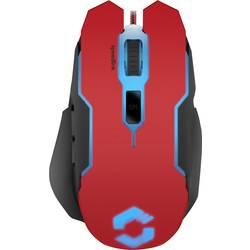 Optická herní myš SpeedLink Contus SL-680002-BKRD, s podsvícením, ergonomická, černá, červená