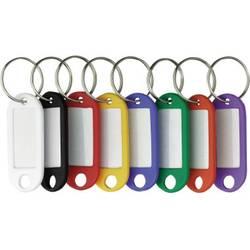 Věšák na klíče 200 ks bílá, černá, červená, žlutá, modrá, zelená, oranžová, fialová