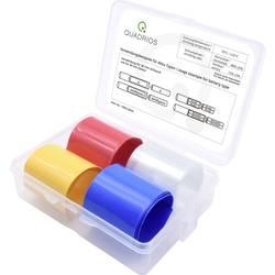 Smršťovací bužírka na akumulátory, bez lepidla Quadrios 1905CA056 2:1, 19 mm, transparentní, modrá, žlutá, červená, 4 díly