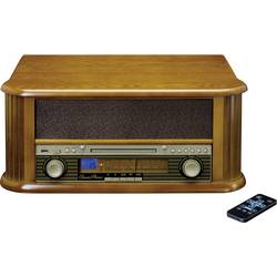 USB gramofon Lenco TCD-2550, řemínkový pohon, dřevo