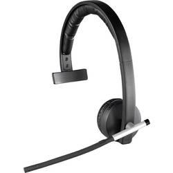 Headset k PC s USB, bezdrátový 2,4 GHz mono, bez kabelu Logitech Mono H820e na uši