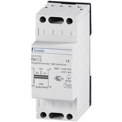 Zvonkový transformátor 4 V, 8 V, 12 V 2 A Doepke 09980033