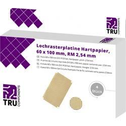 Eurodeska tvrzený papír TRU COMPONENTS (d x š) 100 mm x 50 mm, tloušťka 35 µm, RM 2.54 mm, 4 ks