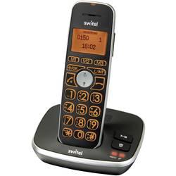 Bezdrátový analogový telefon Switel D150 Vita Comfort handsfree, záznamník, kompatibilní s naslouchadly LCD displej dot matrix mono černá