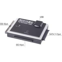 Konvertor USB 2.0, USB-C Renkforce [1x USB 2.0 zástrčka B - 1x IDE zástrčka 40-pólová, IDE zástrčka 44-pólová, kombinovaná SATA zástrčka 15+7-pólová] černá