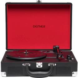 Gramofón Denver VPL-118 s remienkovým náhonom, čierna