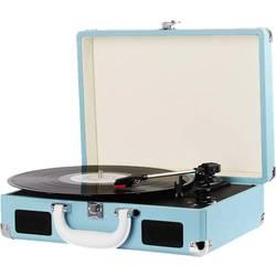 Gramofon Denver VPL-118, řemínkový pohon, modrá