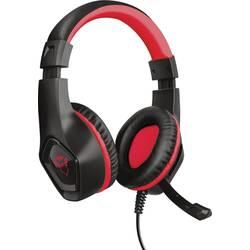 Trust GXT404R Rana herní headset na kabel přes uši, jack 3,5 mm, černá, červená