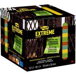 Post-it Extreme Note12 bloky po 45 listech po 76 x 76 mm, zelené, oranžové, tyrkysová Post-it EXT33M-12-FRGE, (š x v) 76 mm x 76 mm, zelená, žlutá, oranžová, tyrkysová, 540 listů