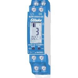 Počítadlo impulzov v prevádzkových hodinách. 1 beznapäťový kontaktný potenciál 10A / 250VAC Eltako BZR12DDX-UC, 230 V