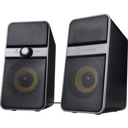 PC reproduktory Renkforce Bluetooth®, kabelový, 6 W, černá, stříbrná