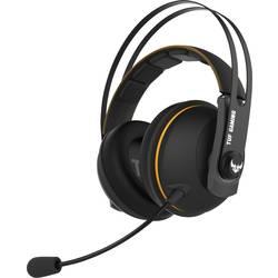 Asus TUF H7 Wireless herní headset bez kabelu přes uši, bezdrátový 2,4 GHz, s USB, černá, žlutá