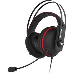 Asus TUF H7 Core herní headset na kabel přes uši, jack 3,5 mm, černá, červená