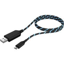 USB 2.0 kabel ICY BOX IB-CB023EL IB-CB023EL, 1.00 m, černá, modrá
