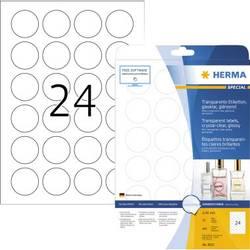 Herma 8023 etikety (A4) Ø 40 mm fólie, lesklá transparentní 600 ks permanentní Fóliové etikety
