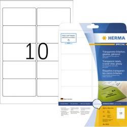 Herma 8018 etikety (A4) 96 x 50.8 mm fólie, lesklá transparentní 250 ks permanentní Fóliové etikety