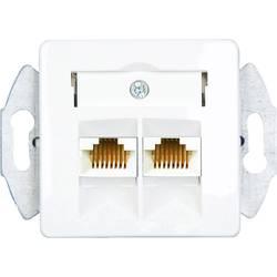 ISDN zásuvka KOMOS 19821BBG pod omítku, montáž na zeď čistě bílá (RAL 9010)
