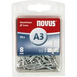 Novus Slepé nýty a 3 x 8 mm, hliník 70 KS 8 mm 70 ks