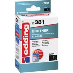 Edding Inkoustová kazeta kompatibilní Single černá EDD-381 Brother LC980 black - REMAN - 18-381