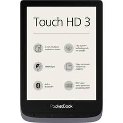 Čtečka e-knih PocketBook Touch HD 3 metallic grey, 15.2 cm (6 palec)šedá (metalíza)