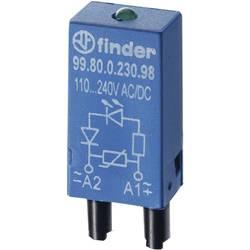 Zasouvací modul s diodou S EMV odrušením , S nulovou diodou , s LED diodou 1 ks Finder Barva světla: červená