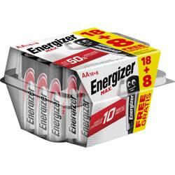 Tužková baterie AA alkalicko-manganová Energizer Max 18+8 gratis, 1.5 V, 26 ks