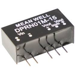 DC/DC měnič napětí do auta Mean Well DPRN01M-15, +34 mA, 1 W, Počet výstupů 2 x