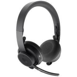 Headset k PC s Bluetooth bez kabelu Logitech přes uši černá