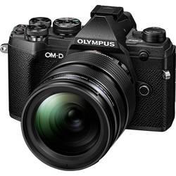 Systémový fotoaparát Olympus E-M5 Mark III 1240 Kit, 20.4 MPix, stříbrná, černá