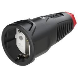 Zásuvka PCE 2511-sr, guma, termoplast, IP54, 250 V, černá, červená