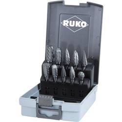Sada frézovacích násad z tvrdokovu v plastovém boxu z ABS - 10 ks RUKO 116003RO