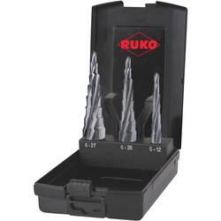 Sada stupňovitého vrtáku RUKO 101087PRO, 6 - 12 mm, 6 - 20 mm, 6 - 27 mm, 1 sada