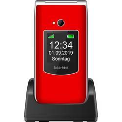 Beafon SL595 mobilní telefon - véčko červená, stříbrná