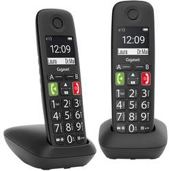 Gigaset E290 Duo ohne Anrufbeantworter, černá