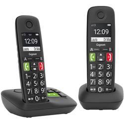Gigaset E290A Duo mit Anrufbeantworter, černá