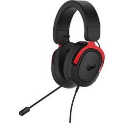 Asus TUF H3 herní headset na kabel přes uši, jack 3,5 mm, černá, červená