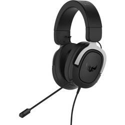 Asus TUF H3 herní headset na kabel přes uši, jack 3,5 mm, černá, stříbrná