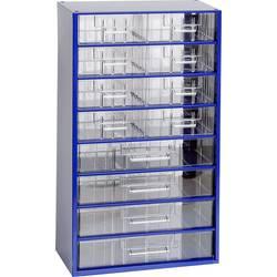 Skříňka na drobné součástky MARS Svratka, 6154, přihrádek: 12, 306 x 551 x 155, modrá, transparentní